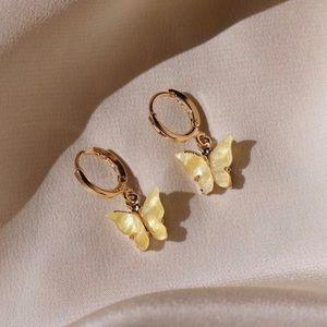 Yellow Butterfly Earrings ✨